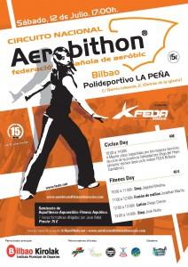Cartel Aerobithon Ciclon Day Bilbao 2008